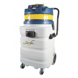 Heavy Duty Wet & Dry Commercial Vacuum - Capacity of 22.5 gal (85 L) - 2 Motors - Electrical Outlet - 10' (3 m) Hose - Plastic and Aluminum Wands - Brushes and Accessories Included - IPS ASDO07433