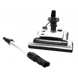 """Power Nozzle - 12"""" (30.5 cm) Cleaning Path - Adjustable Height - Quick Connect Release - Silver - Flat Belt - Telescopic Wand - Headlight - Roller Brush - Refurbished"""