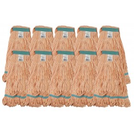 Set of 10 String Mop Replacement Heads / Synthetic Washing Mops - Orange