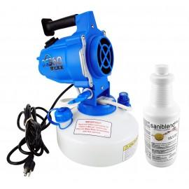 Pulvérisateur électrostatique - Avec nettoyant en bouteille ECO710 - Capacité du réservoir de 33.08 oz - Débit réglable - À utiliser contre le coronavirus (COVID-19)