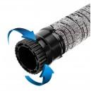 Central Vacuum Hose - 52' (15.8 m) for Retractable Hose System - With Grey Hose Cover - Plastiflex VX400114052VRET4