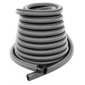 Central Vacuum Hose - 60' (18.3 m) for Retractable Hose System - With Grey Hose Cover - Plastiflex VF906138060RET4