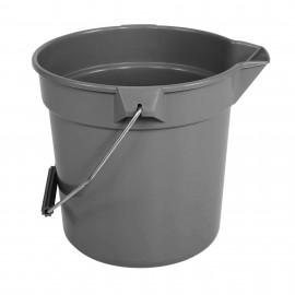 Plastic Bucket with Handle - 2.4 gal (11 L) - Grey