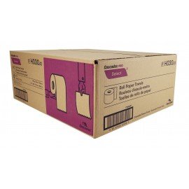 """Paper Hand Towel - 7.9"""" (20.1 cm) - Width - Roll of 350' (106.6 m) - Box of 12 Rolls - White - Cascades Pro H030"""