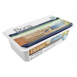 Tampons de nettoyage humide pour planchers de bois franc par Bona - paquet de 12 - jetables - sèche rapidement - compatible avec les vadrouilles Bona - SJ355