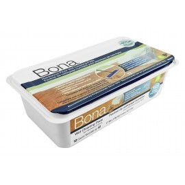 Wet Cleaning Pads for Hardwood Floors by Bona - Pack of 12 - Disposable - Quick Drying - Compatible with Bona Mops - SJ355