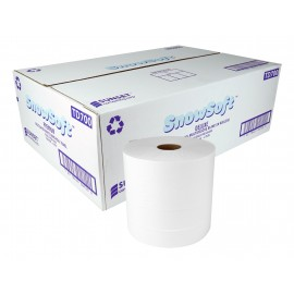 Multilayer Hand Paper Towel Premium SUNSET Snow Soft - 2-ply - 700' - Box of 6 Rolls - White - TD700