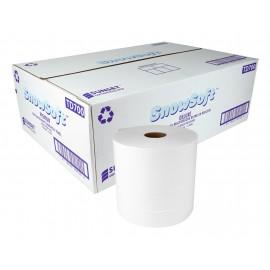Papier essuie-mains multicouches SUNSET Snow Soft Deluxe - 2 épaisseurs - 700 pieds - boîte de 6 rouleaux - blanc - TD700