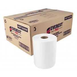 Hand Paper Towel - 600 ft per Roll - Box of 6 Rolls - White - HWT600W