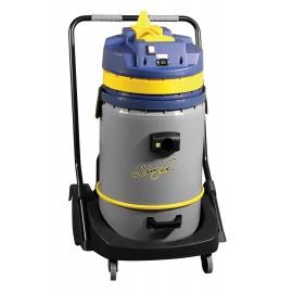 Aspirateur commercial sec et humide - capacité de 60,5 L (16 gal) - cuve sur chariot - prise pour balai électrique - boyau de 3 m (10') - manchons en plastique et aluminium - brosses et accessoires inclus - IPS ASDO07416