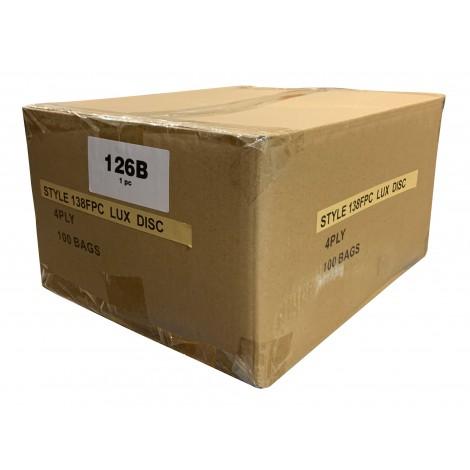 Sac en papier pour aspirateur Electrolux Discovery Prolux - style U AirPlus - boîte de 100 sacs - en vrac - 138FPC*