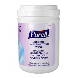 Hand Sanitizing Wipes - Purell - Ethyl Alcohol 62% - Fragrance-Free - 175 Wipes per Dispenser - Products for use against coronavirus (COVID-19)