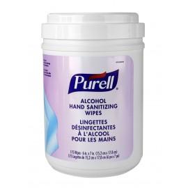 Lingettes désinfectantes pour les mains - Purell - alcool éthylique 62% - non parfumé - 175 lingettes par distributeur - Produits à utiliser contre le coronavirus (COVID-19)