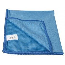 Microfiber Cloth for Window Cleaning - 14'' X 14'' (35.5 cm x 35.5 cm) - Blue - Pack of 100