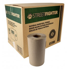 Hand Paper Towel - Roll of 205' (62,48 m) - Box of 24 Rolls - Brown - ST2052