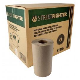 Papier essuie-mains - rouleau de 62,48 m (205') - boîte de 24 rouleaux - brun - ST2052