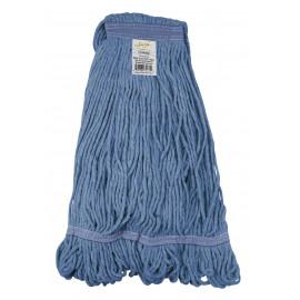 Tête de vadrouille / moppe synthétique de rechange - humide pour laver - 554 g (16 oz) - bleue