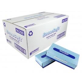 Papier mouchoir - 2 épaisseurs - 30 boîtes de 100 feuilles - Snow Soft - blanc - SUNF10030