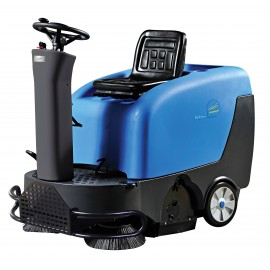 """Industrial Ride On Sweeper Machine - JVC40SWEEPN from Johnny Vac - 39.5"""" (1 003 mm) Cleaning Path - Battery & Charger Included"""