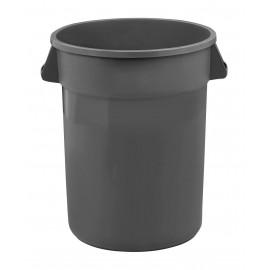 Poubelle ronde - capacité de 121 litres (32 gallons) - gris