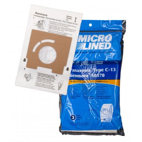 Sac en papier pour aspirateur Panasonic type C-13 - paquet de 3 sacs - MC3900