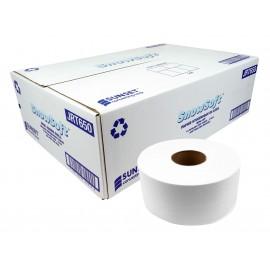 Papier hygiénique mini JRTde Snow Soft - 2.5 core - 2 plis - 12 rouleaux par caisse - 650 pieds par rouleau - fabriqué au Canada - JRT650