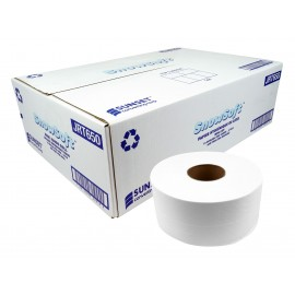 Snow Soft Mini Toilet Tissue by Snow Soft - 2 ply - 12 rolls per case - 650 feet per roll - made in Canada - JRT650