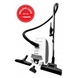 Canister Vacuum - Johnny Vac Silenzio - HEPA Filtration - HEPA Bag - Wessel-Werk Turbo Air Nozzle - Refurbished