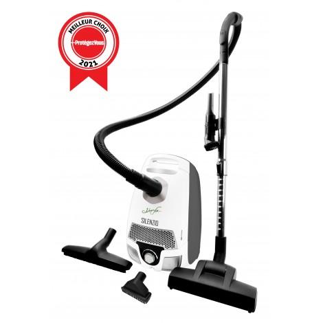 Canister Vacuum - Johnny Vac Silenzio - HEPA Filtration - HEPA Bag - Wessel-Werk Turbo Air Nozzle - Telescopic Handle - Set of Brushes