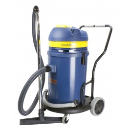 Heavy Duty Wet & Dry Commercial Vacuum - Capacity of 15.8 gal (60 L) - FLOWMIX Technology - 2 Motors - Electrical Outlet - 10' (3 m) Hose - Plastic and Aluminum Wands - Brushes and Accessories Included - IPS ASDO11649