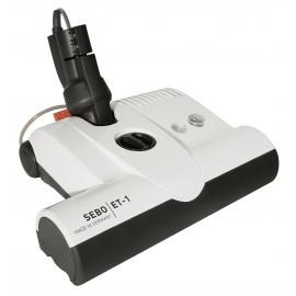 """Power Nozzle - 12"""" (30.5 cm) Width - Adjustable Height - White - Geared Belt - Plastic Roller Brush - Sebo ET-1F2"""