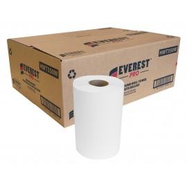 """Papier essuie-mains Deluxe - largeur de 20 cm (7,8"""") - 350 feuilles - boîte de 12 rouleaux - blanc - SUNSET Everest Pro"""