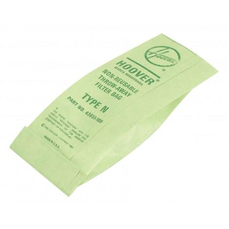 Sac en papier pour aspirateur Hoover type N - paquet de 5 sacs - 4010038N