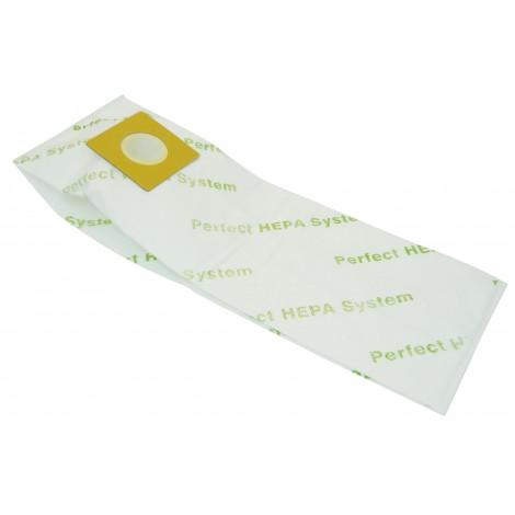 Sac microfiltre HEPA pour aspirateur Royal type B, Hoover type A et Z, Perfect PE101 et PE102 (STE400BK) - paquet de 9 sacs