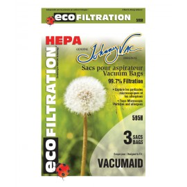 Sacs 595H microfiltre HEPA pour aspirateur - Vacumaid - paq/3