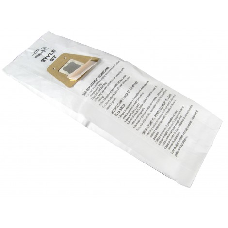 Microfilter Bag for Electrolux and Sanitaire Type ST Vacuum - Pack of 5 Bags - Envirocare 161