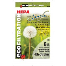 HEPA Microfilter Bag for Electrolux Canister Vacuum - Pack of 6 Bags - Envirocare 805HJV