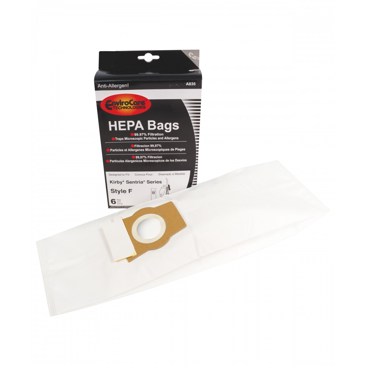 sacs aspirateur micro filtre hepa pour kirby sentria pqt 6. Black Bedroom Furniture Sets. Home Design Ideas