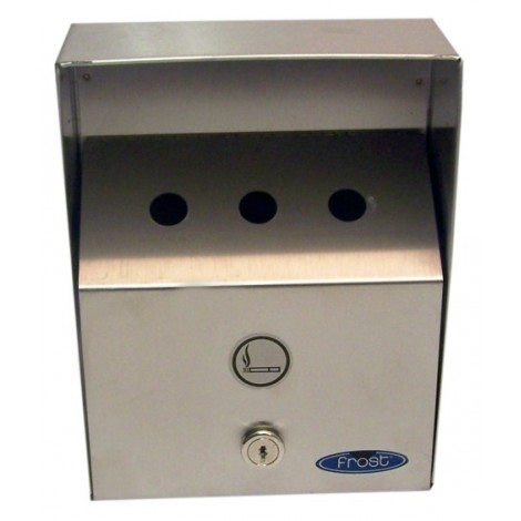 STAINLESS STEEL WALL-MOUNTED OUTDOOR ASHTRAY- HEAVY DUTY - SMALL 7