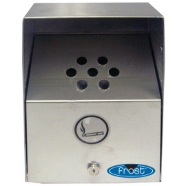 STAINLESS STEEL WALL-MOUNTED OUTDOOR ASHTRAY- HEAVY DUTY - MEDIUM 9