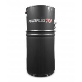 Central Vacuum Johnny Vac - Powerlux X2 - ASP2000 - Silent - 2 Motors - 700 Airwatts - 12 gal (45.5 L) Tank Capacity - Wall Mount Bracket - HEPA Bag - HEPA Fibrotex Filter