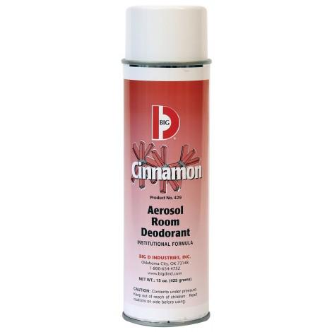 Désodorisant aérosol - canelle - 15 oz (425 g) - Big D 429