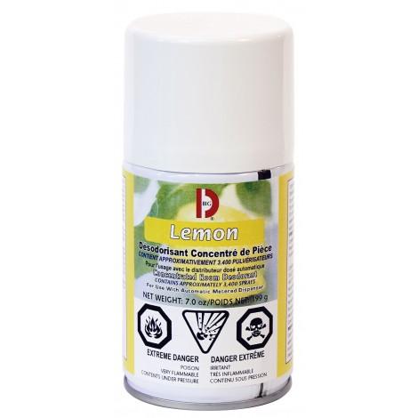Désodorisant concentré en aérosol - dose mesurée - citron - 3400 jets - 7 oz (199 g) - Big D 451