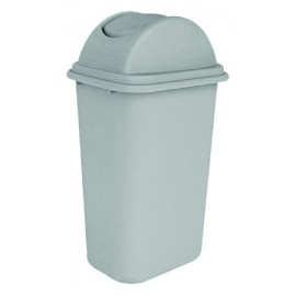 Trash Garbage Can Bin with Swing Lid - 10.25 gal (47 L) - Light Grey