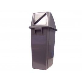 RECYCLING GARBAGE CAN WITH HOLE LID FOR PAPER 60 L / 16 GAL7