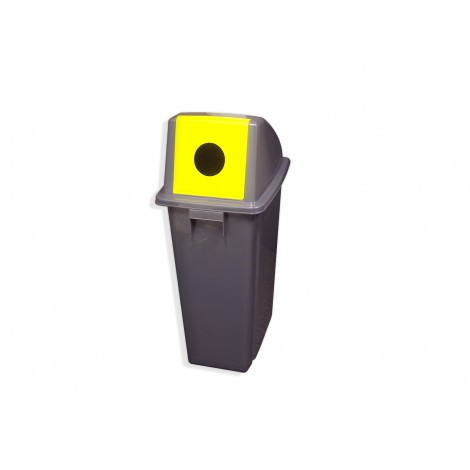 Recycling Garbage Can With Hole Lid For Bottles 60 L 15 8 Gal