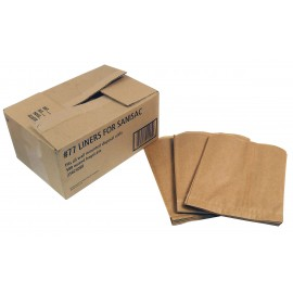 DISPOSABLE WAX PAPER LINERS FOR INDISPOSAL NAPKINS - BOX/500