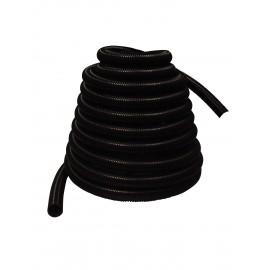 """Boyau pour aspirateur central - 60' (18 m) - 1 ¼"""" (32 mm) dia - noir - anti-écrasement - Zephlex"""