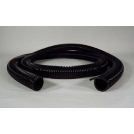 """Boyau pour aspirateur central - par pied en multiple de 10' (3 m) - 1 ¼"""" (32 mm) dia - noir - anti-écrasement - Zephlex"""