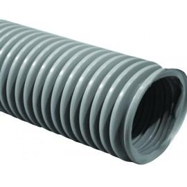 """Boyau pour aspirateur central - par pied en multiple de 10' (3 m) - 1 ½"""" (38 mm) dia - gris - anti-écrasement - haute qualité"""
